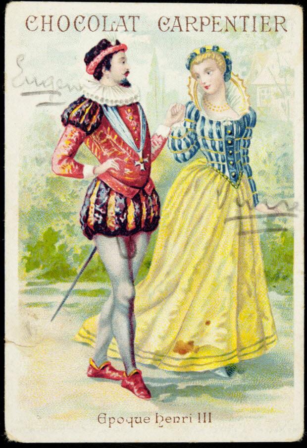 carte réclame - Epoque Henri III