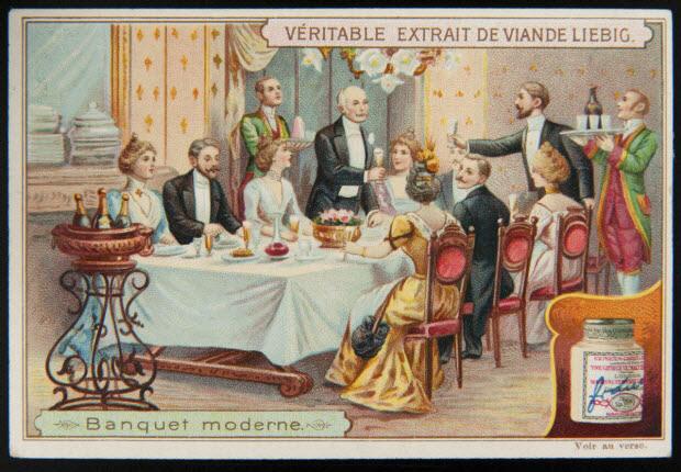 carte réclame - Banquet moderne