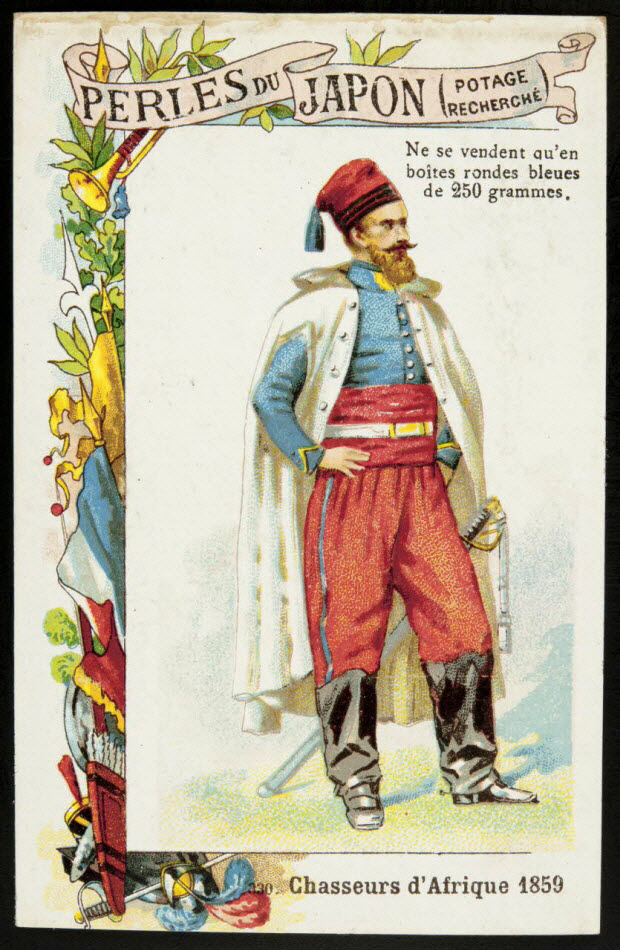 carte réclame - 330. Chasseurs d'Afrique 1859