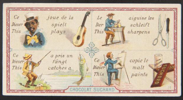 carte réclame - Rébus.