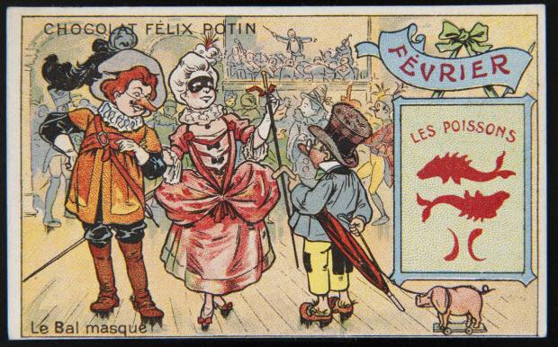 carte réclame - FEVRIER Le Bal masqué