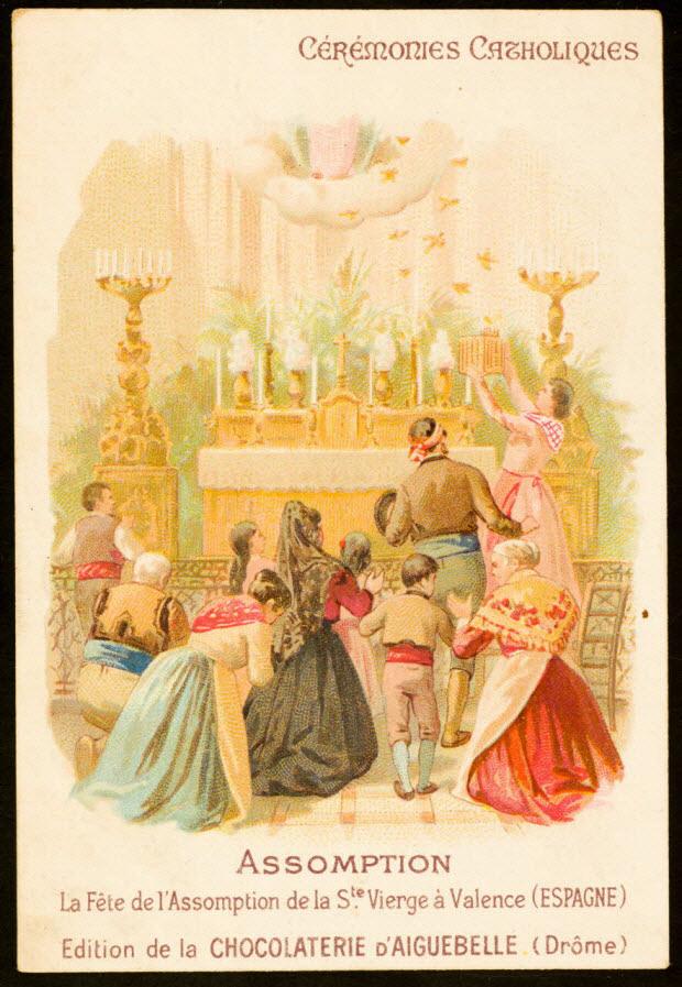 carte réclame - ASSOMPTION La Fête de l'Assomption de la Ste Vierge à Valence (ESPAGNE)