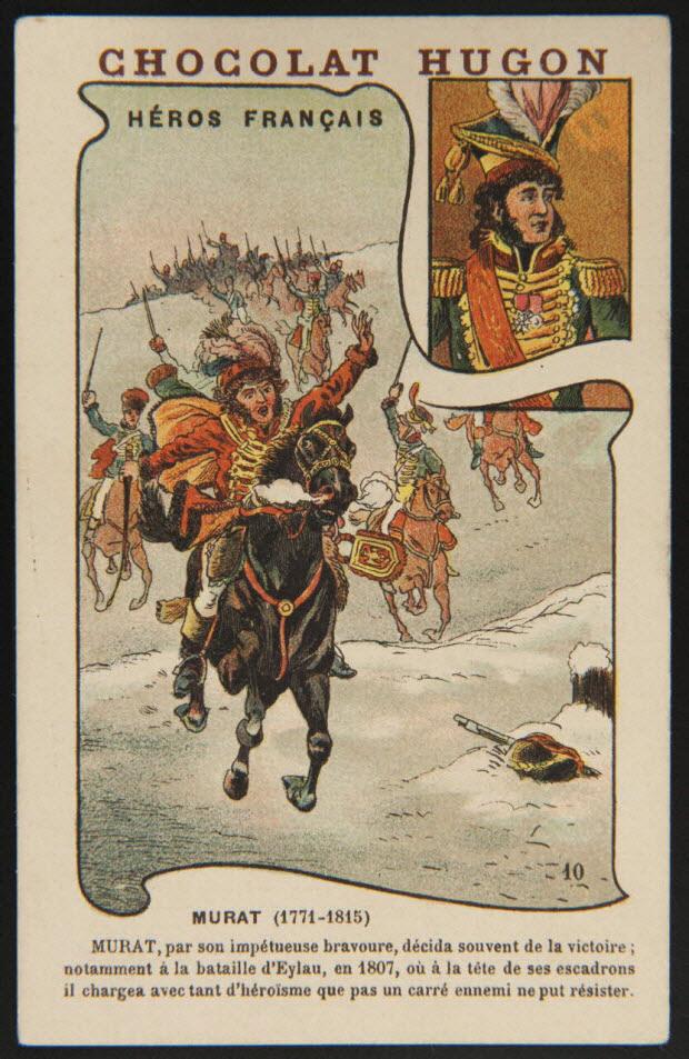 carte réclame - HEROS FRANCAIS MURAT (1771-1815)