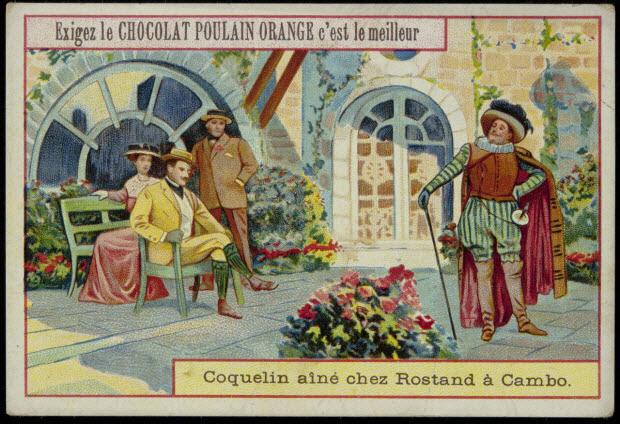 carte réclame - Coquelin aîné chez Rostand à Cambo