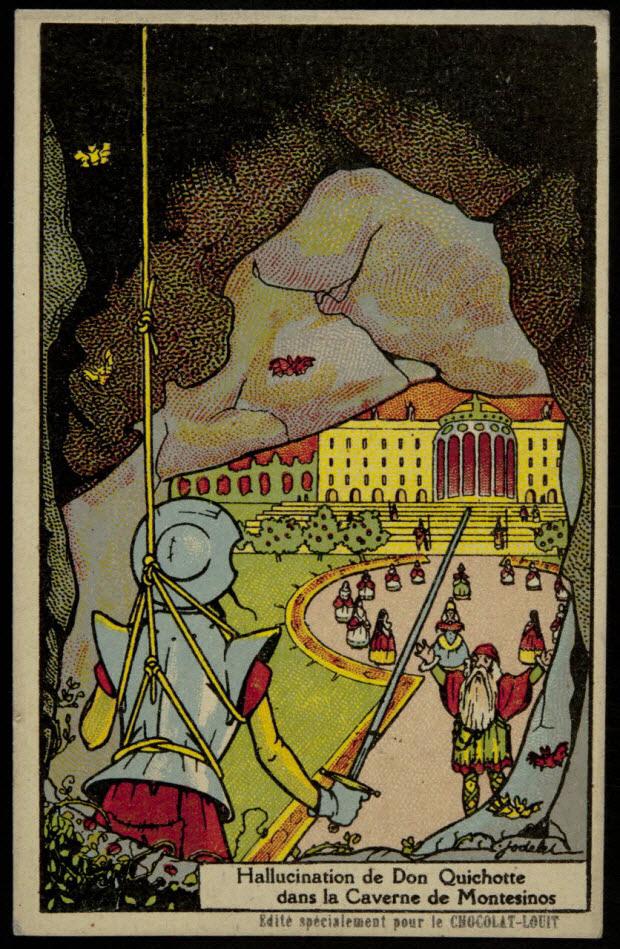 carte réclame - Hallucination de Don Quichotte dans la Caverne de Montesinos