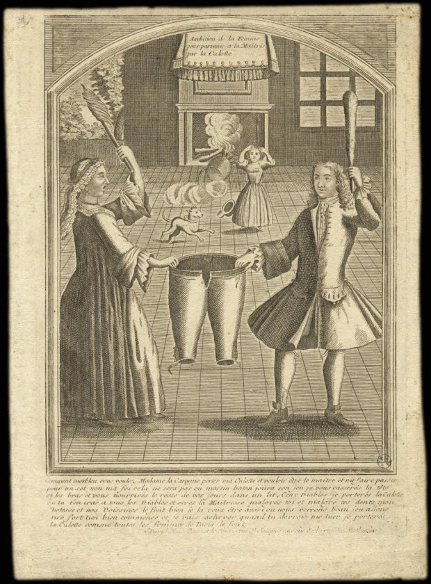 imagerie ancienne - Ambition de la Femme pour parvenir a la Maitris par la Culotte.
