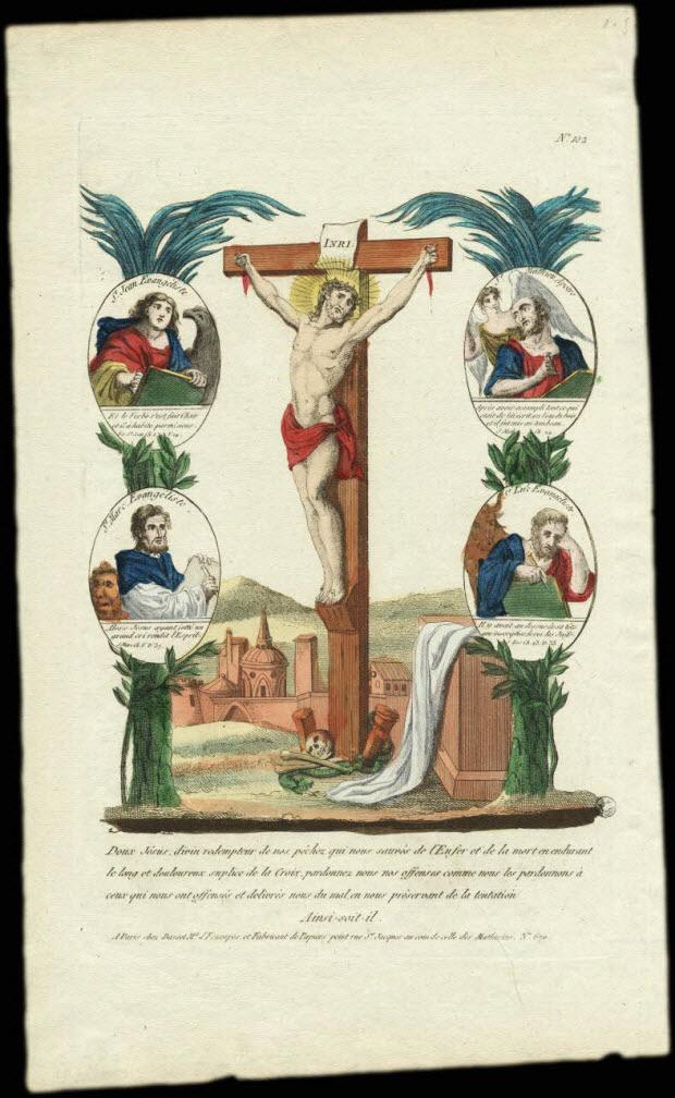 estampe - Christ en croix.