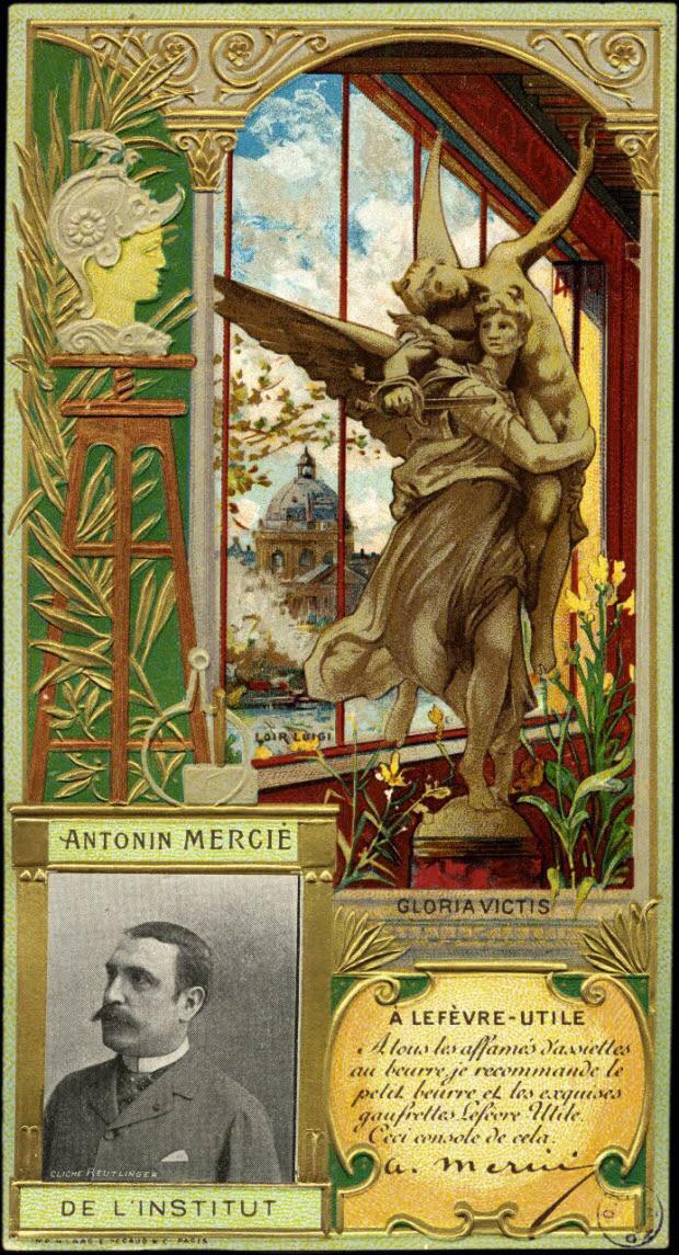 carte réclame - ANTONIN MERCIE DE L'INSTITUT