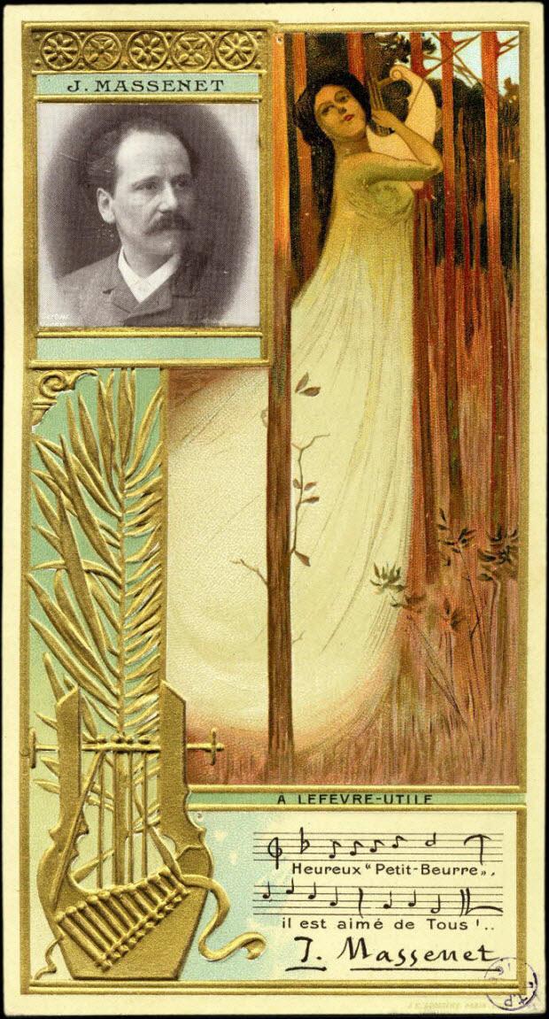 carte réclame - J. MASSENET