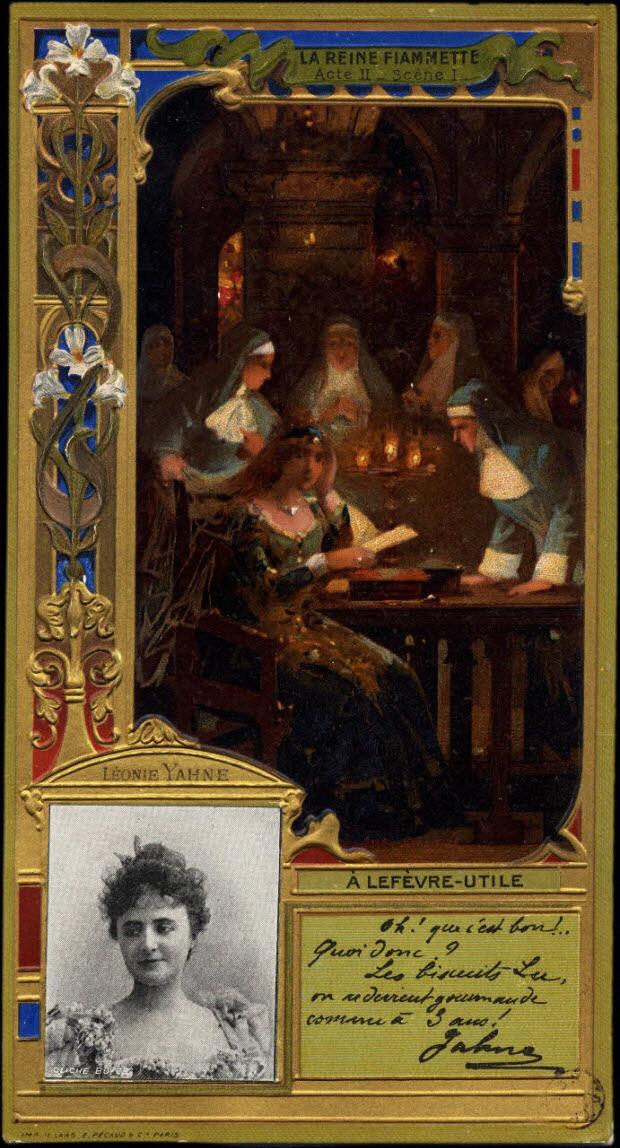 carte réclame - LEONIE YAHNE