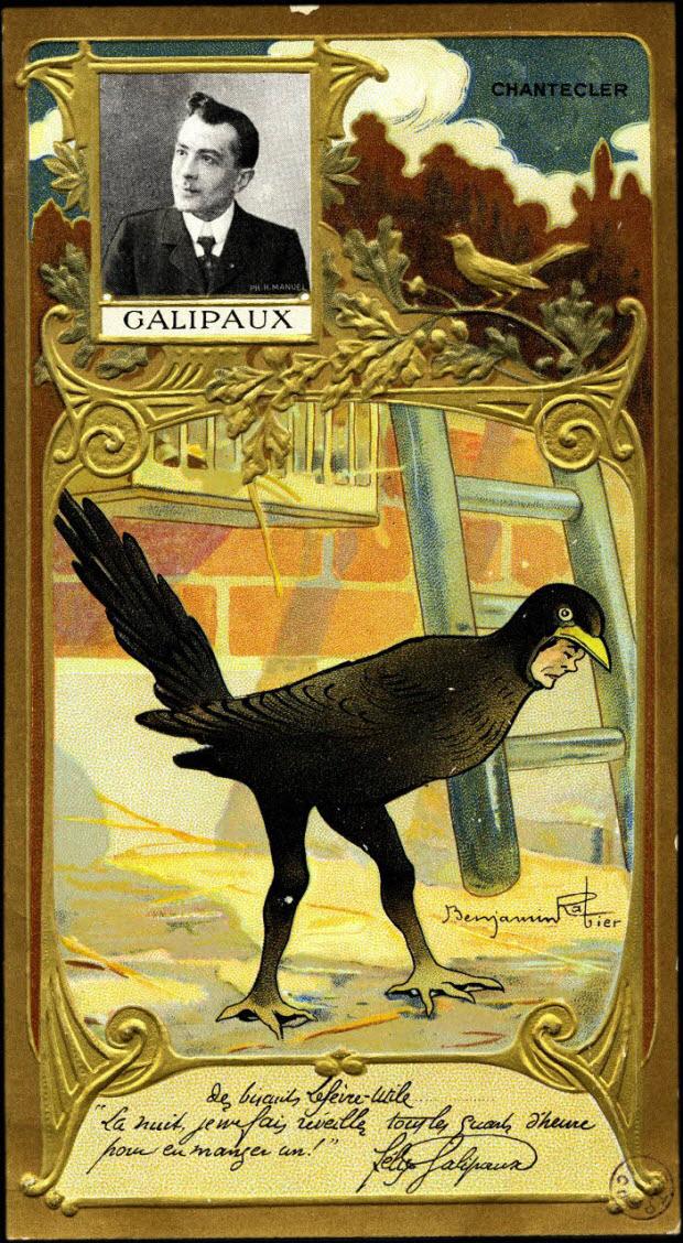 carte réclame - GALIPAUX
