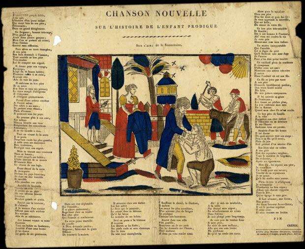 estampe - CHANSON NOUVELLE SUR L'HISTOIRE DE L'ENFANT PRODIGUE