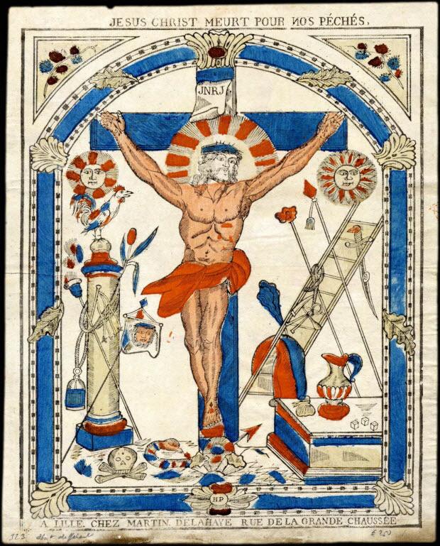 estampe - JESUS-CHRIST MEURT POUR NOS PECHES.