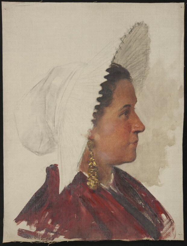 dessin - Portrait de femme de profil