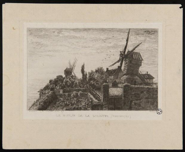 estampe - LE MOULIN DE LA GALETTE (MONTMARTRE)