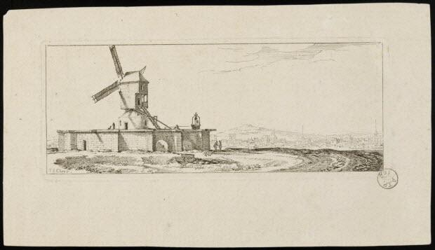 imagerie ancienne - Moulin à vent