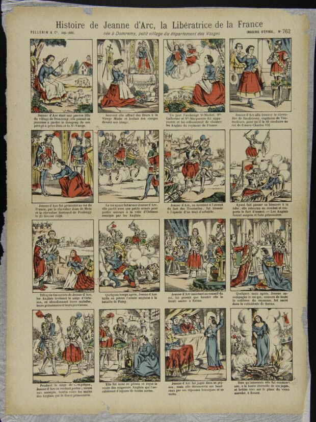 à compartiments : 4x5 - Histoire de Jeanne d'Arc, la Libératrice de la France