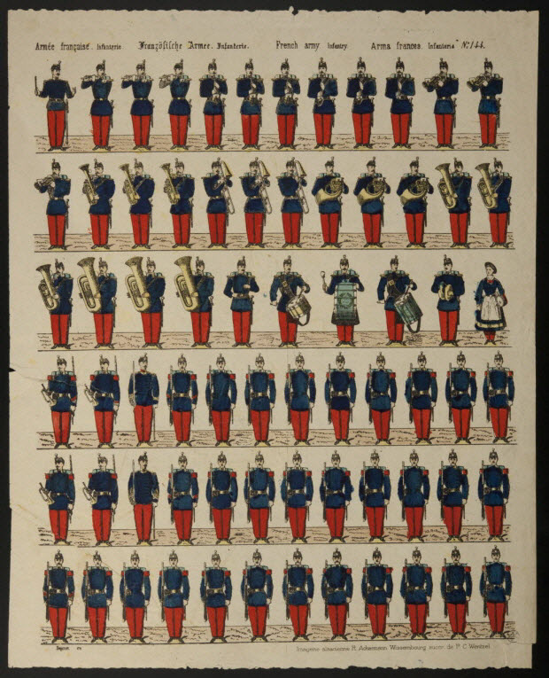 à registres (6) - Armée française. Infanterie.