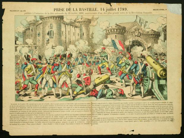 estampe - PRISE DE LA BASTILLE, 14 JUILLET 1789