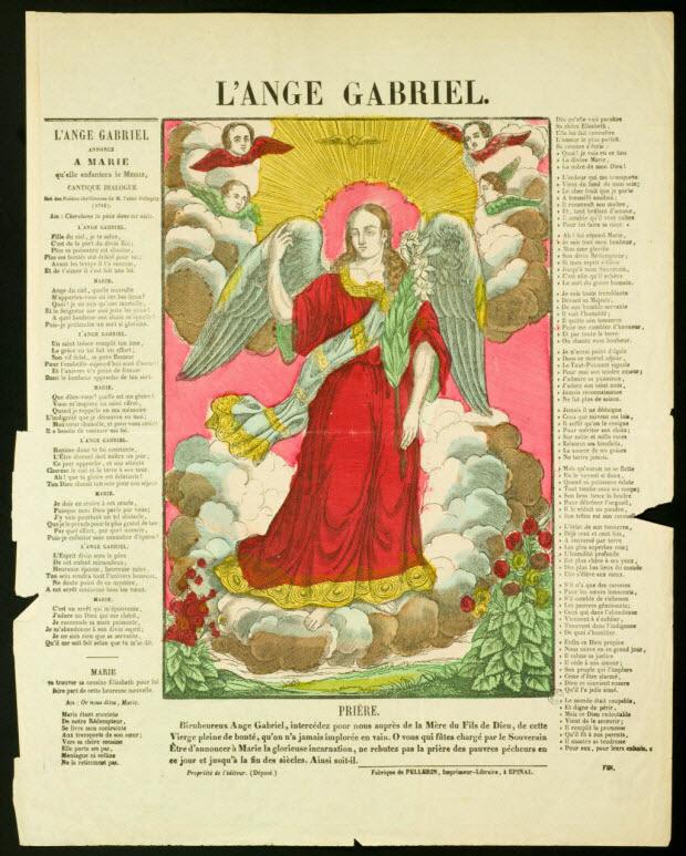 estampe - L'ANGE GABRIEL.
