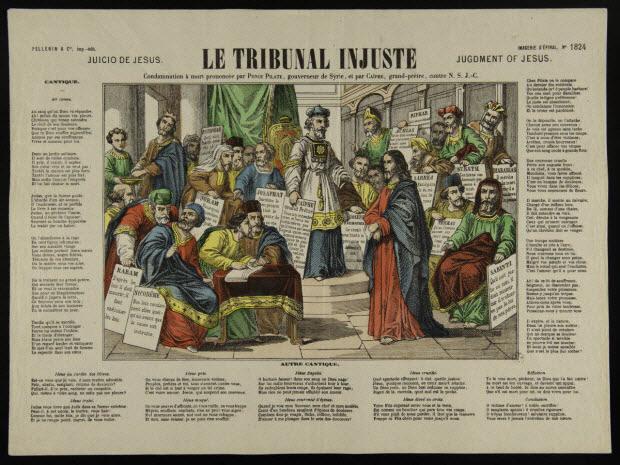 estampe - LE TRIBUNAL INJUSTE