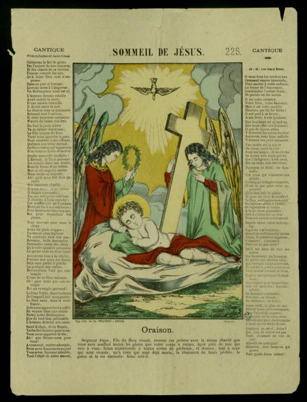 estampe - SOMMEIL DE JESUS.
