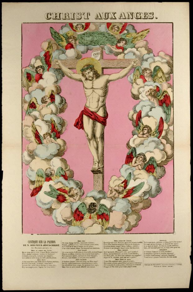 estampe - CHRIST AUX ANGES.