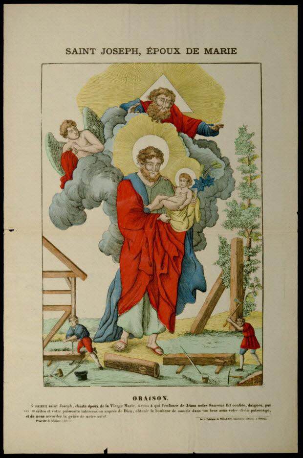 estampe - SAINT JOSEPH, EPOUX DE MARIE
