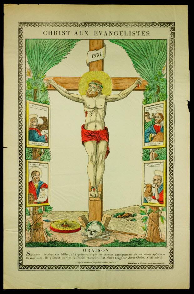 estampe - CHRIST AUX EVANGELISTES.