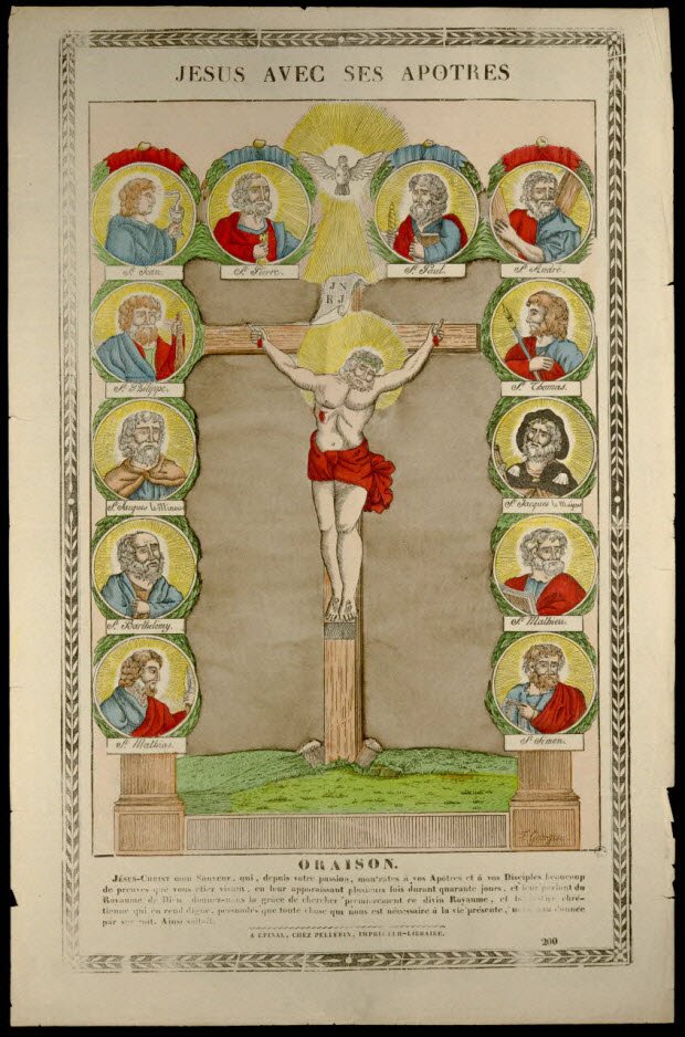 estampe - JESUS AVEC SES APOTRES