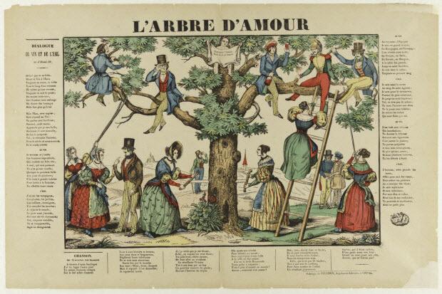 estampe - L'ARBRE D'AMOUR