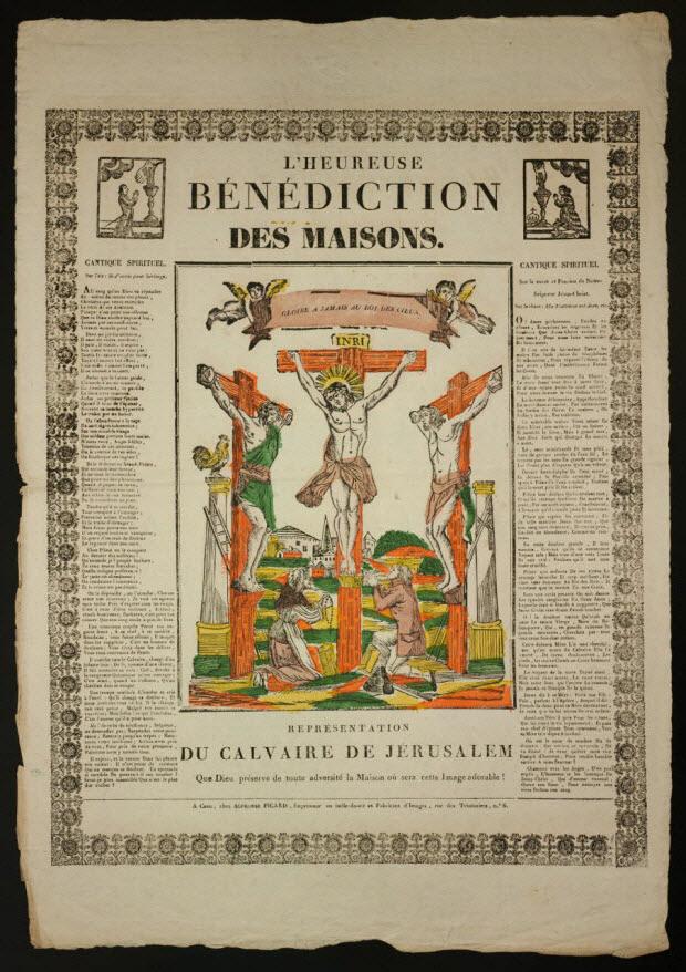 imagerie ancienne - L' HEUREUSE BENEDICTION DES MAISONS.