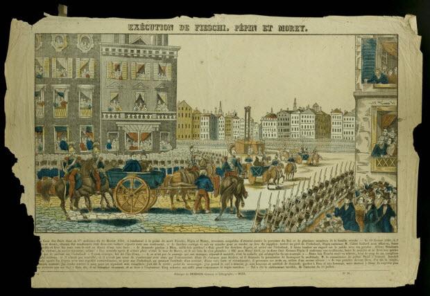 imagerie ancienne - EXECUTION DE FIESCHI, PEPIN ET MOREY.