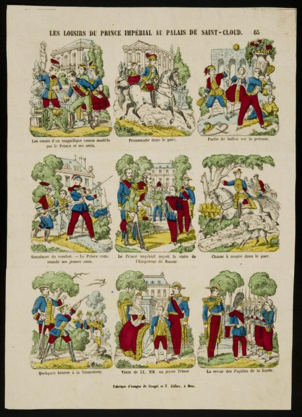 imagerie ancienne - LES LOISIRS DU PRINCE IMPERIAL AU PALAIS DE SAINT-CLOUD.