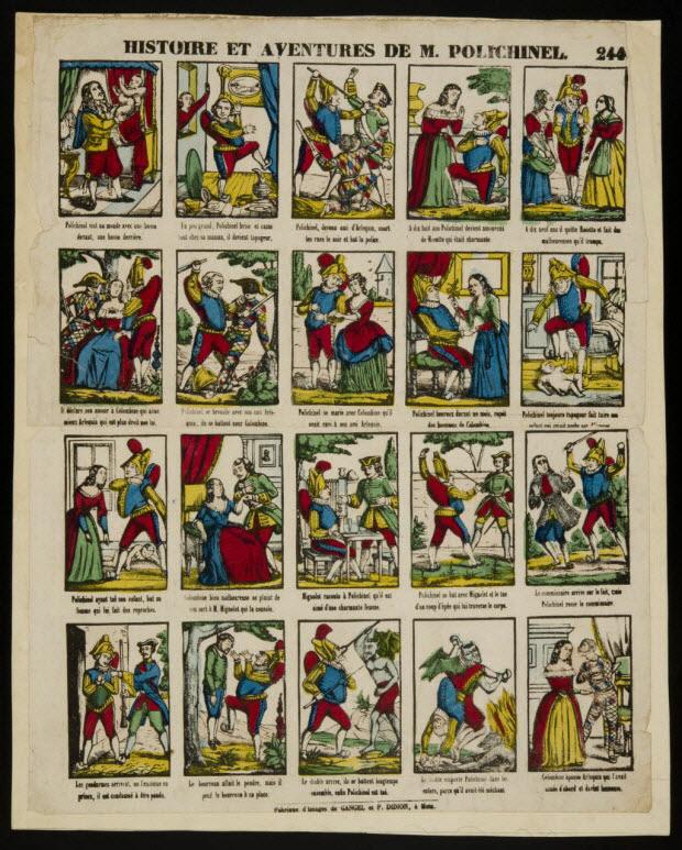 imagerie ancienne - HISTOIRE ET AVENTURES DE M. POLICHINEL.