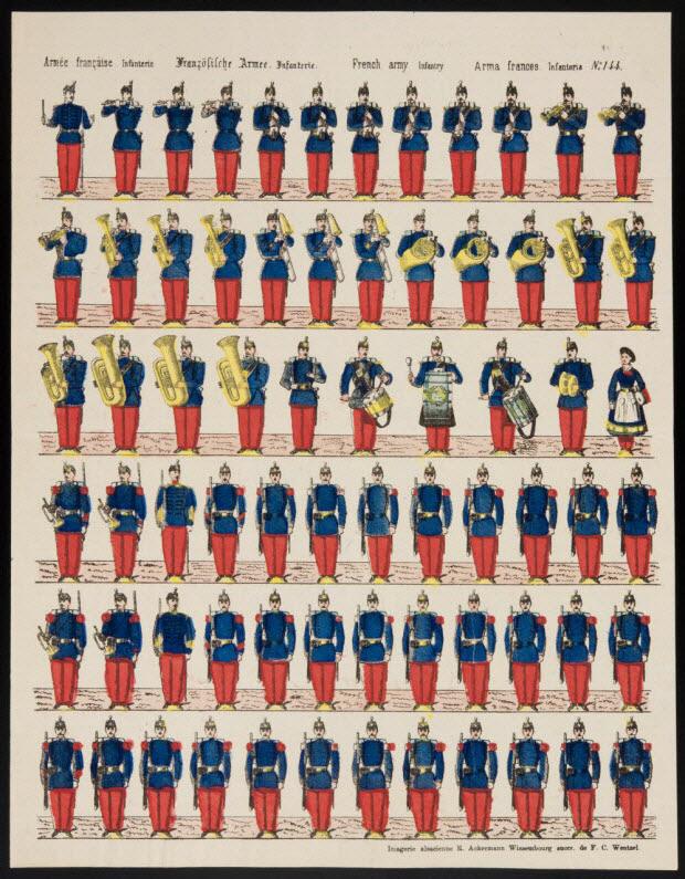 imagerie ancienne - Armée française. Infanterie