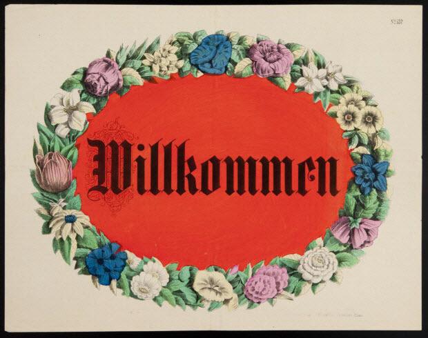 imagerie ancienne - Willkommen