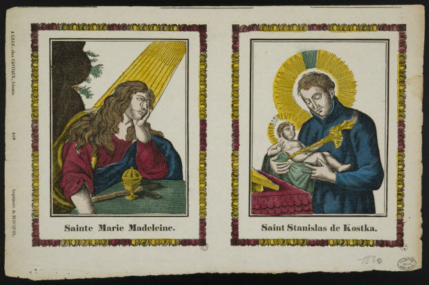 imagerie ancienne - Sainte Marie Madeleine.