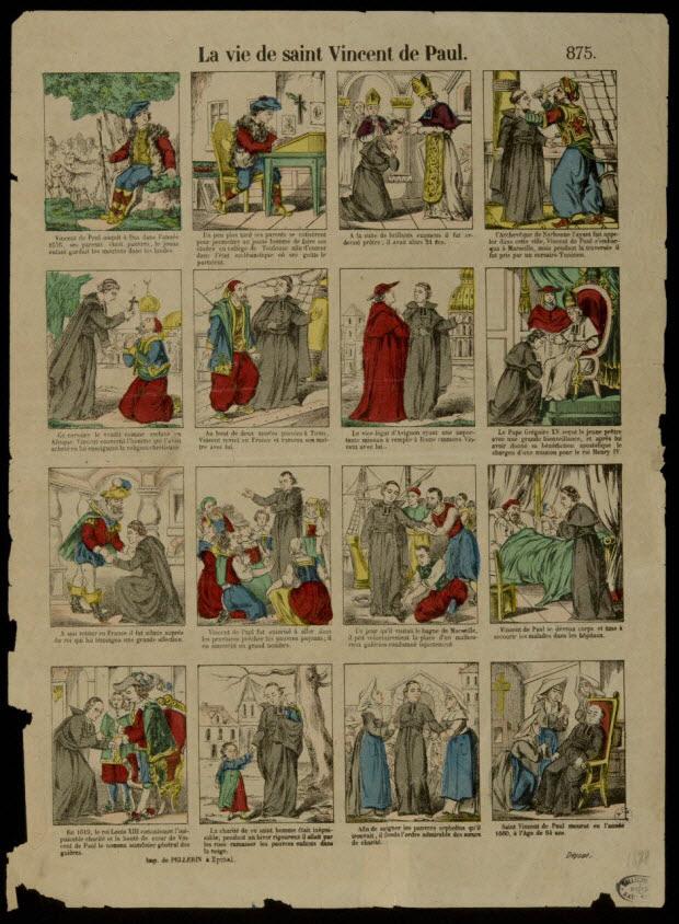 estampe - La vie de saint Vincent de Paul.