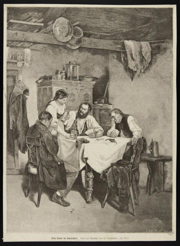 illustration - Eine Hause im Kartenspiel