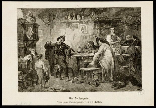 estampe - Der Dorfpaganini.
