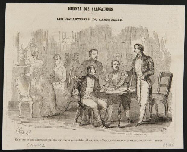 illustration - JOURNAL DES CARICATURES. LES GALANTERIES DU LANSQUENET.