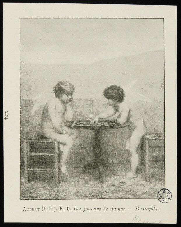 illustration - Les joueurs de dames.