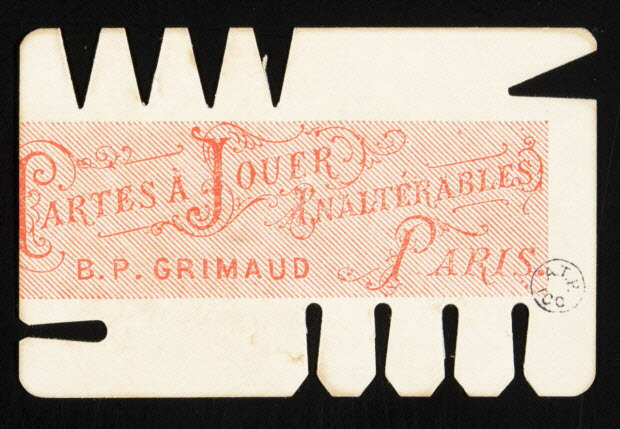 estampe - CARTES A JOUER INALTERABLES B. P. GRIMAUD PARIS