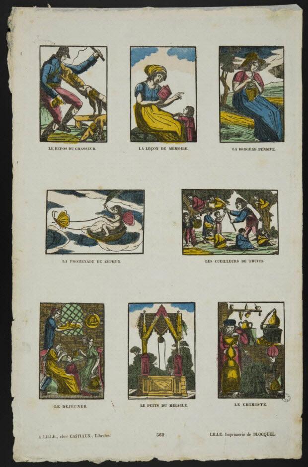 imagerie ancienne - Scènes diverses