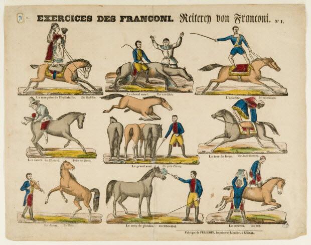 estampe - EXERCICES DE FRANCONI.