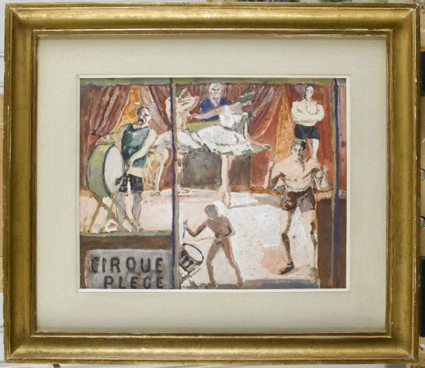 peinture - Le cirque Plège