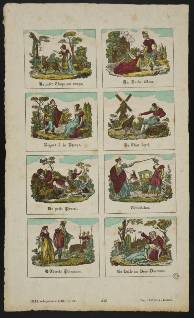 imagerie ancienne - Planche de contes