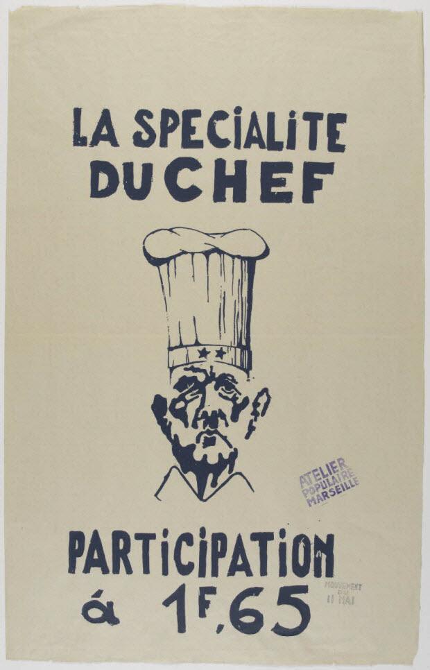affiche - LA SPECIALITE DU CHEF PARTICIPATION à 1F,65