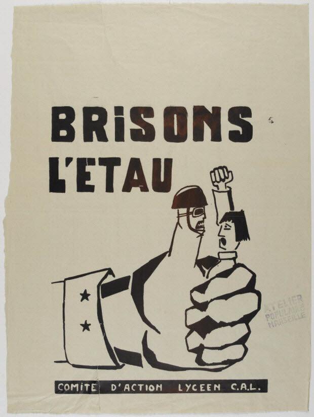 affiche - BRISONS L'ETAU COMITE D'ACTION LYCEEN C.A.L.